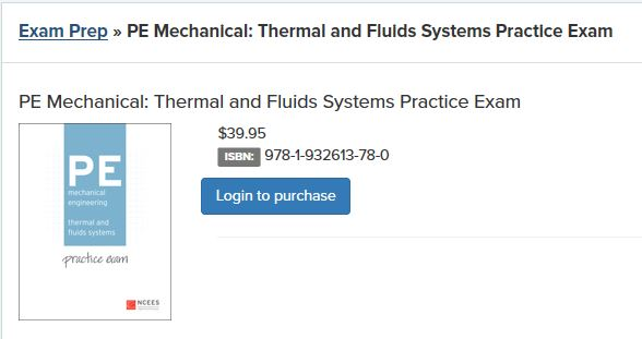 Thermal & Fluids PE Exam Cheap Resources – Passing the Mechanical PE